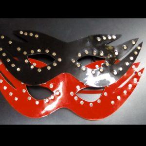Antifaz Taches Negro y Rojo